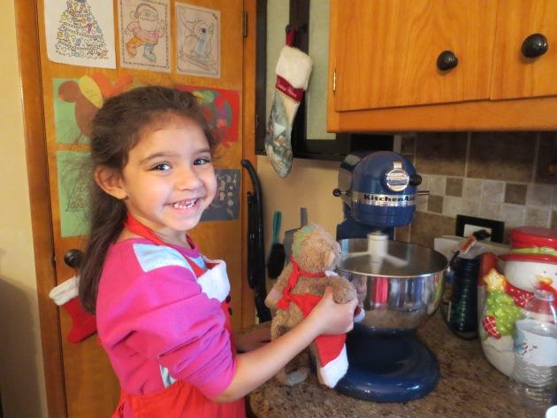 Baking Christmas cookies, 2014